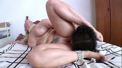 Famous Huge Butt and Slave's Tongue - Deep Tongue Fucking with Brazilian PornStar