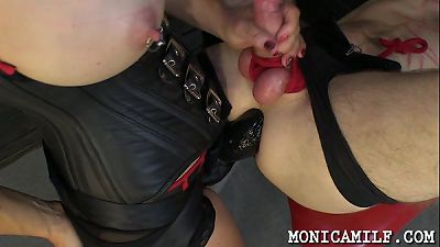 Hard femdom and pegging by norwegian monicamilf