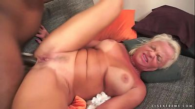 multiracial buttfuck plow with grandmother Anett