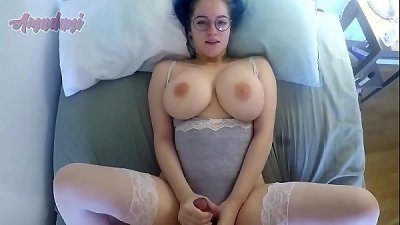 Busty babe showing off her huge tits while getting fucked - Amadani
