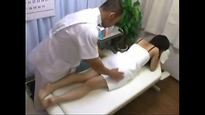 Asian Babe Creampie Fucked And Fingered On Massage Table